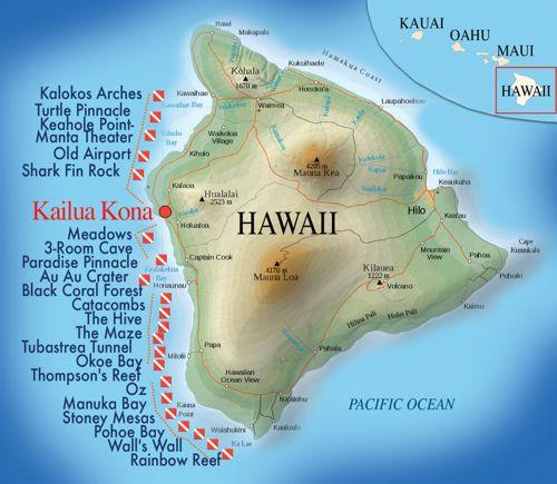 Kona Aggressor II Hawaii Dive Sites