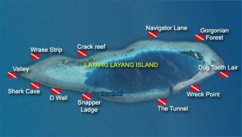 Layang Layang Dive Sites Malaysia