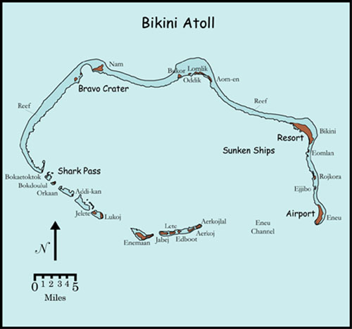 Bikini Atoll Map Liveaboard Diving