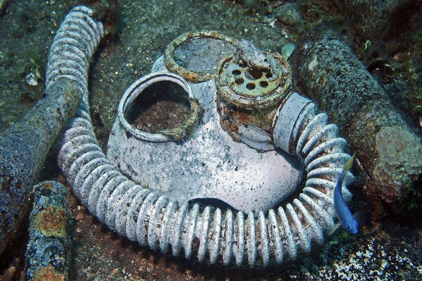 Fujikawa Wreck Gasmask - Truk Lagoon