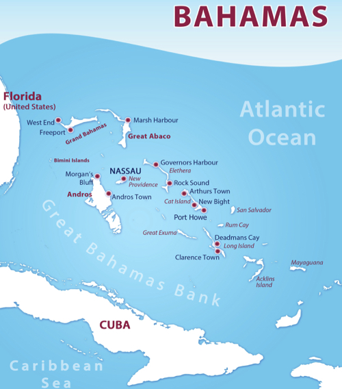 Bahamas Map - Liveaboard Diving