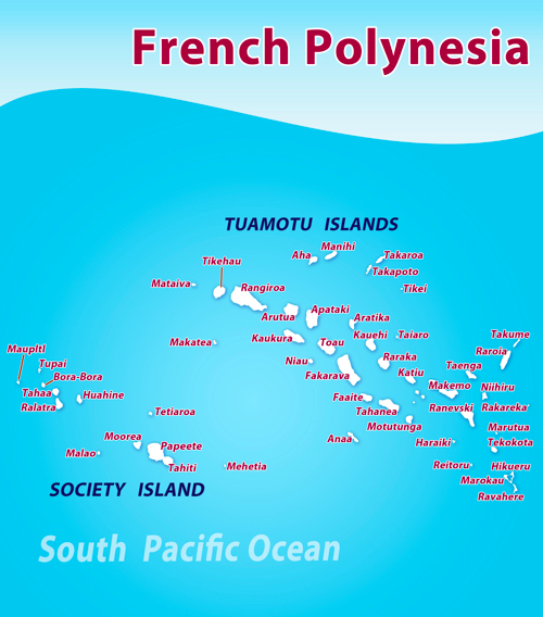 French Polynesia Liveaboard Dive Map