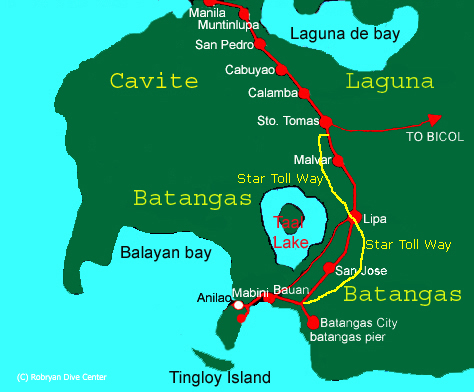 Manila Batangas Map
