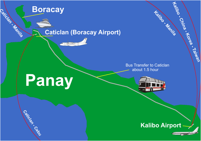 Boracay Airport Service Map Scuba Diving Philippines