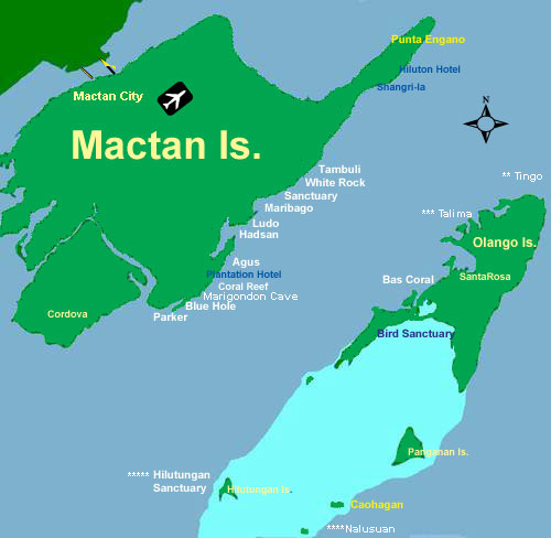 Mactan Olango Dive Sites Map Philippines Scuba Diving