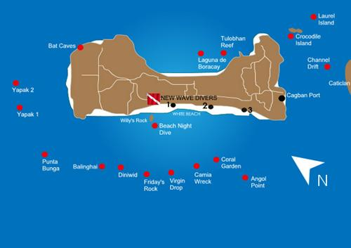 Boracay Dive Sites Map Philippines Scuba Diving