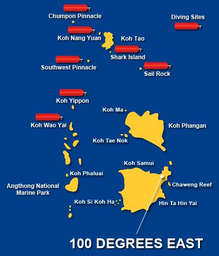 Koh Samui Thailand Map