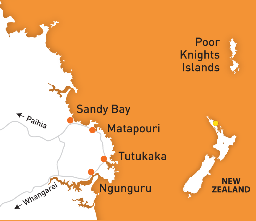 Tutukaka New Zealand Map
