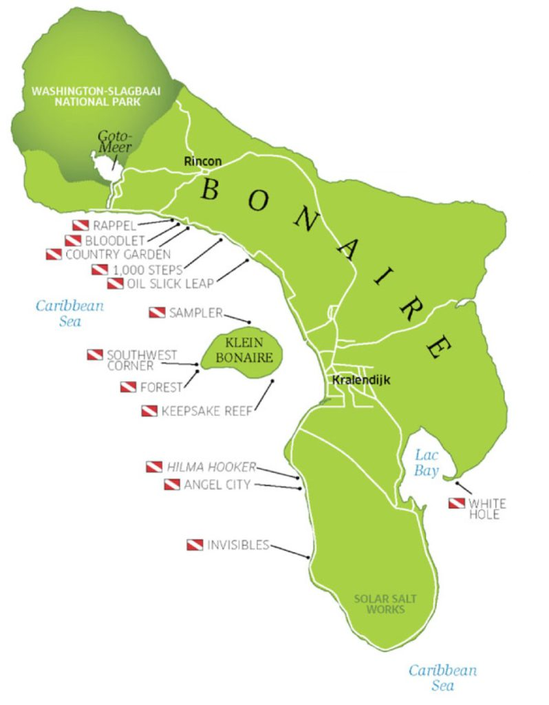 Bonaire Dive Sites Map