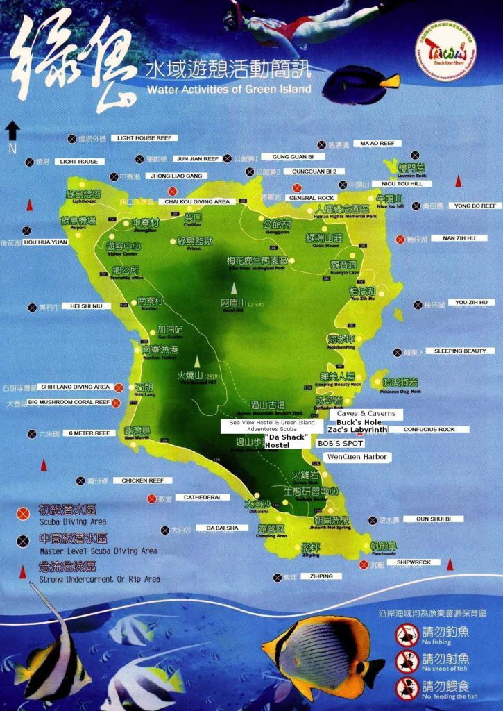 Green Island Dive Site Map