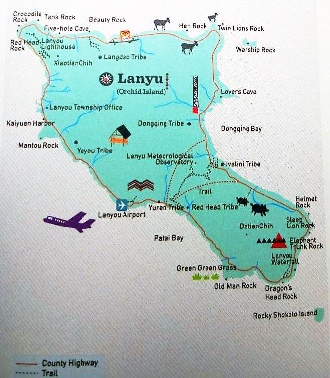 Orchid Island (Taiwan) Map