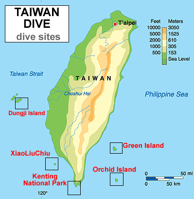 Taiwan Dive Sites Map