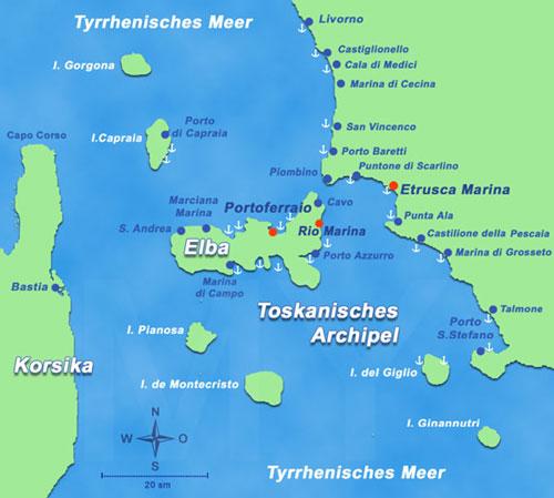 Tuscan Archipelago Map