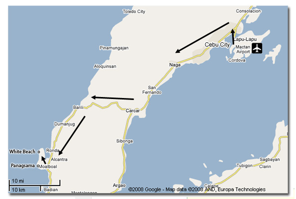 Cebu Travel Map