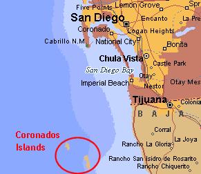 Coronado Islands Map