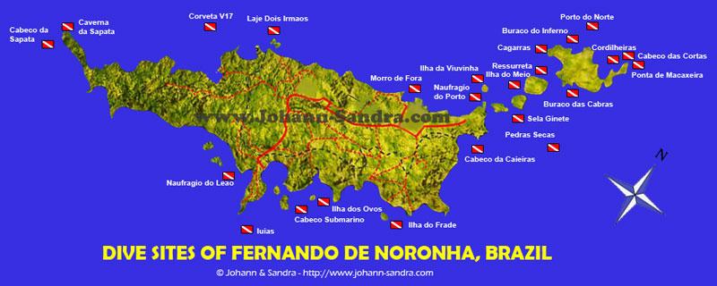 Fernando de Noronha Map