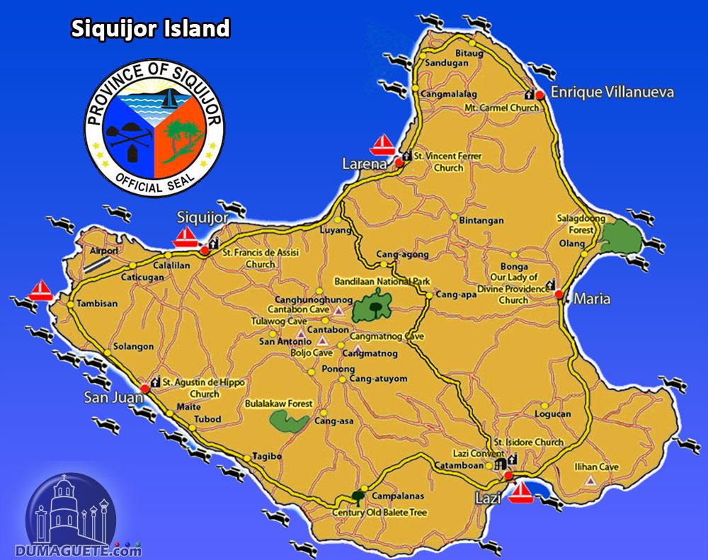 Siquijor Island, Philippines Map