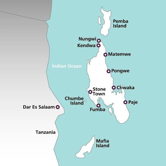 Zanzibar Archipelago Map