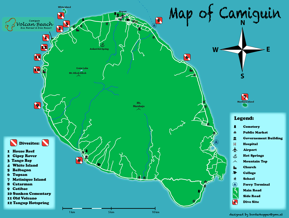Camiguin Dive Sites Map