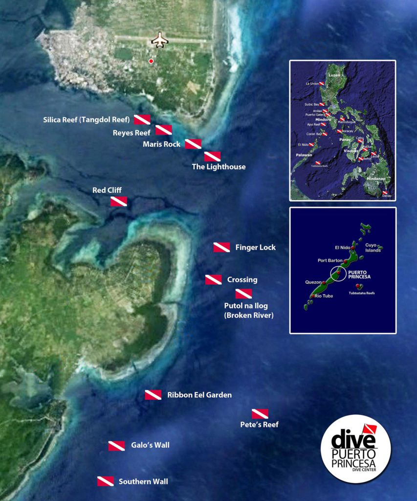 Puerto Princesa Dive Sites Map