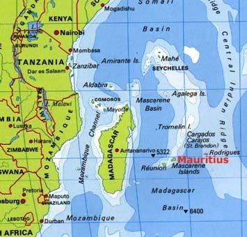 Mauritius Location Map