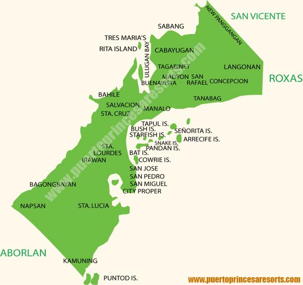 Puerto Princesa Map