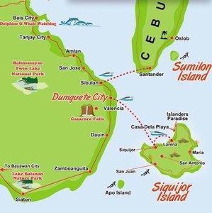 Dumaguete Area Map