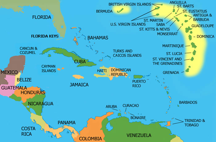St Lucia Location Map