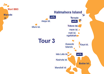 Halmahera Island, Indonesia Dive Map