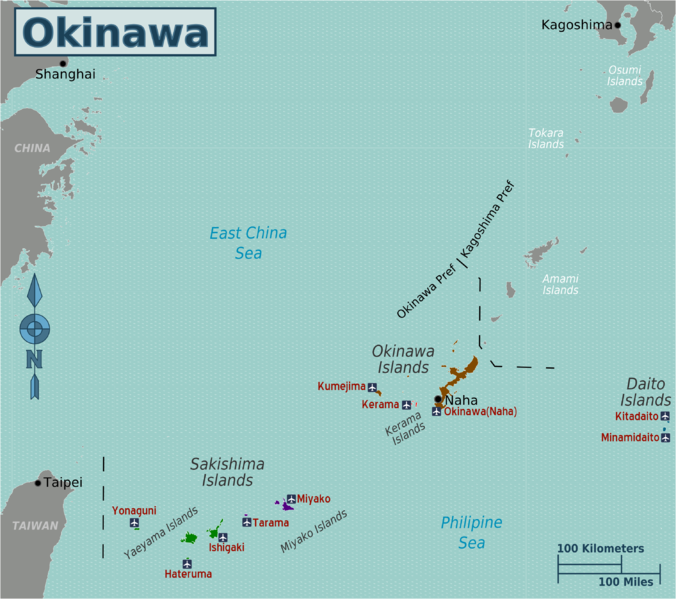 Okinawa Islands Map