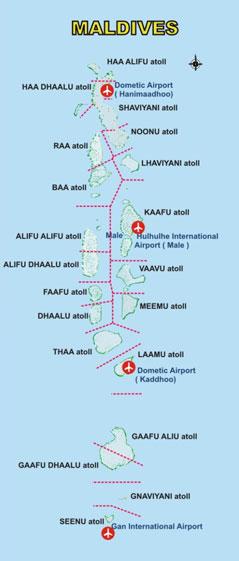 Maldives Airport Map