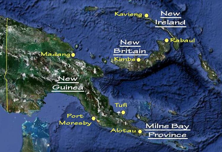 PNG Dive Sites Map