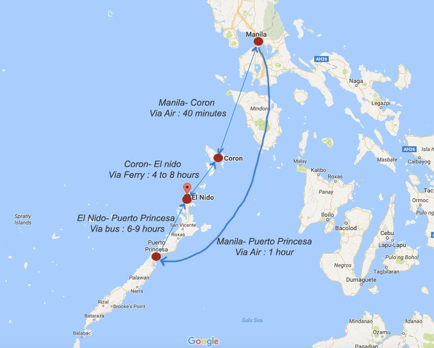 Coron Location Map