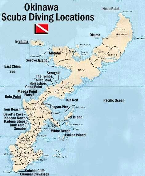 Okinawa Dive Sites Map