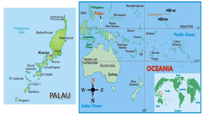 Palau Location Map