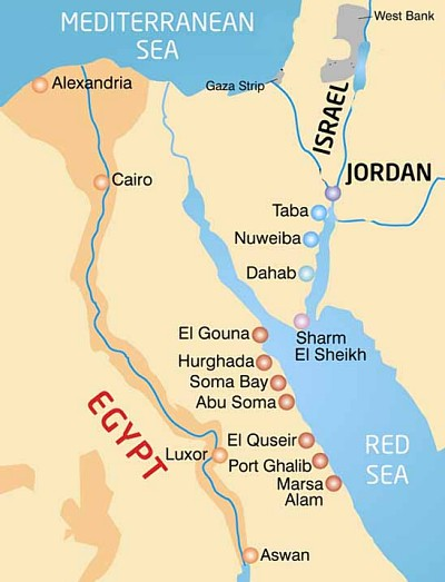 Hurghada Location Map