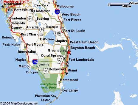 West Palm Beach Location Map