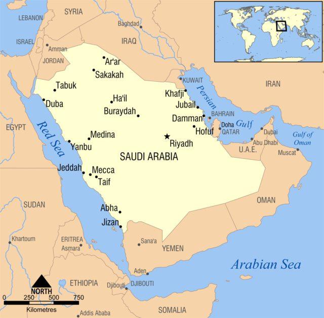 Jeddah Location Map