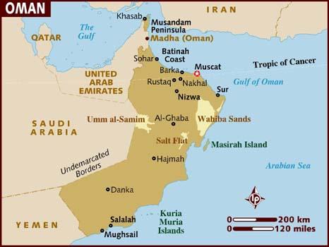 Oman Map