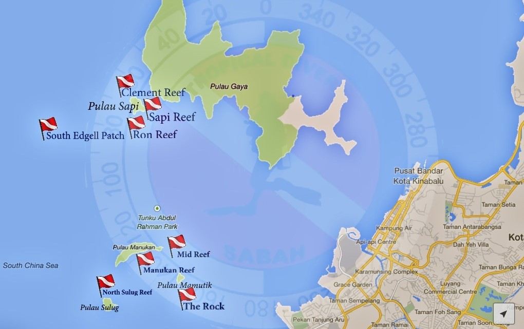 Kota Kinabalu Islands Map
