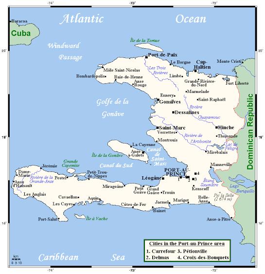 Haiti Dive Sites Map