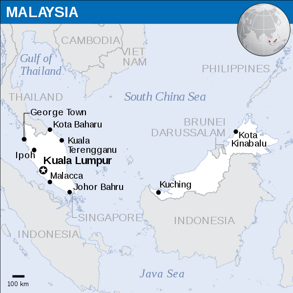 Kota Kinabalu Location Map