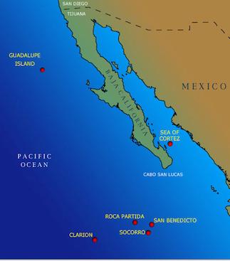 Socorro Islands Location Map