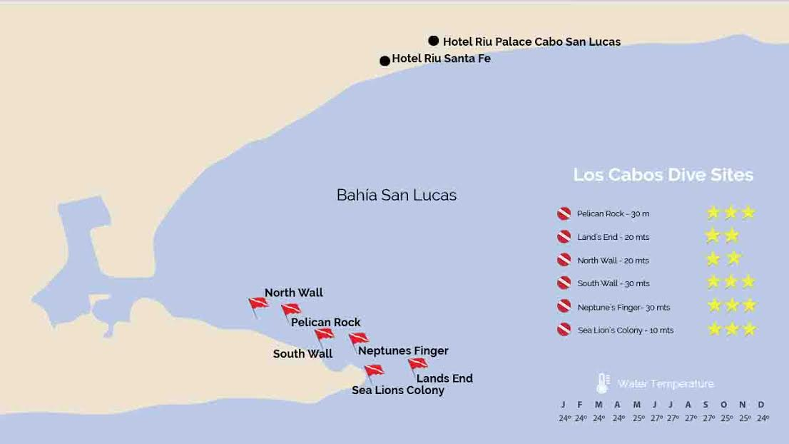 Cabo San Lucas Dive Sites Map