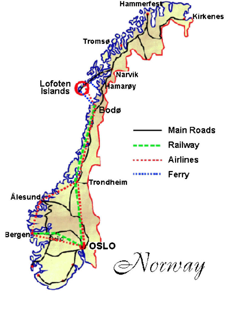 Lofoten, Norway Map