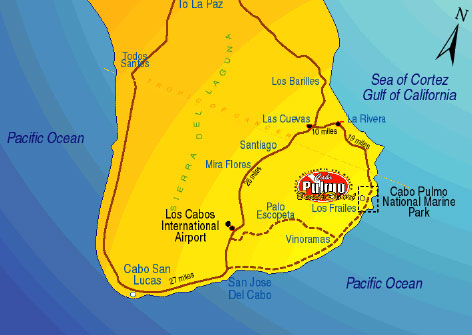 Cabo Pulmo National Marine Park Map
