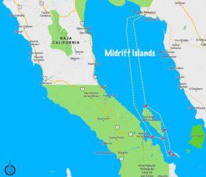 Sea of Cortez Midriff Islands Dive Site Map