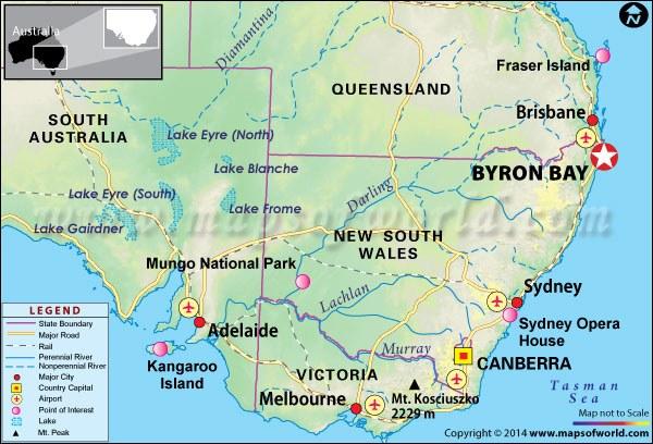 Byron Bay Location Map