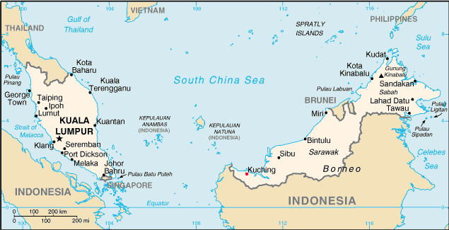 Kuching Location Map