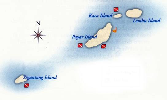 Pulau Payar Dive Sites Map